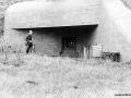 """Bunker til 47 mm """"Festungspak"""" fra Skoda. Omdrejningspunkt er mundingen, således at der ikke er den sædvanlig skydespalte."""