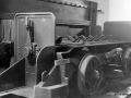 Ladevogn der transporterede ammunition fra magasinet til elevatoren og op til kanonen.