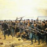 8. Brigades modangreb ved Dybbøl (Vilhelm Rosenstands maleri fra 1894, som hænger på Frederiksborgmuseet)