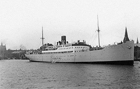DFDS Esbjerg fotograferet før krigens udbrud