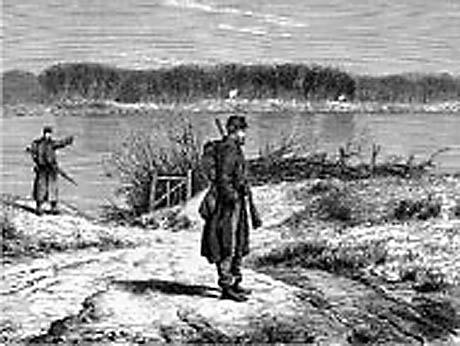 Danske vagtposter ved Als Sund i Krigen i 1864