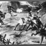 Arabiske slavejægere angriber landsby (University of Virginia)