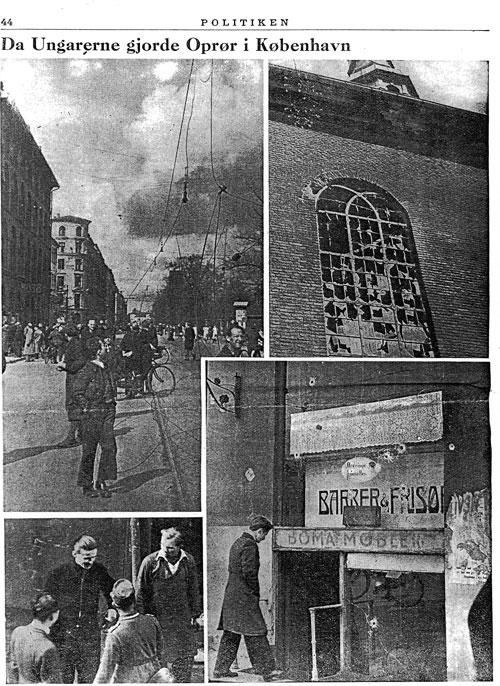 Da ungarerne gjorde oprør i København. (Politikens tillæg maj 1945)