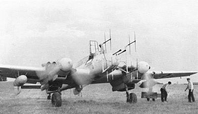 Tysk Me 110 natjager udstyret med radar