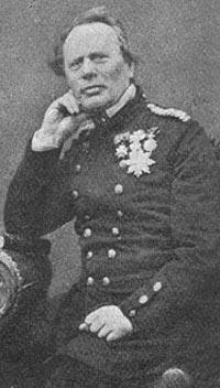 Admiral van Dokum - chef for den danske Østersøeskadre i Krigen i 1864.