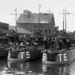 3 torpedobåde af Dragen klassen på besøg i Odense i 1937