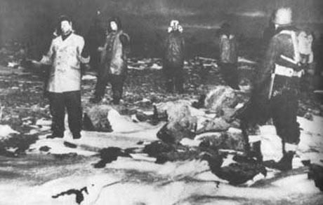 Tyske tropper overgiver sig til amerikanske soldater på Grønland