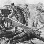 Kaptajn Hertel i en skanse under det preussiske angreb
