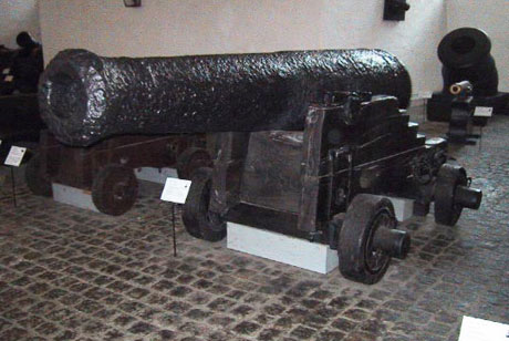 Kanon fra blokskibet INDFØDSRETTEN der gik tabt under kampen