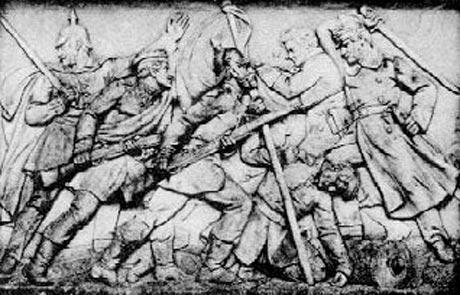 Relieffet på mindesmærket ved Dybbøl