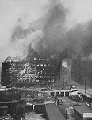 The Burning Shell house building in Copenhagen