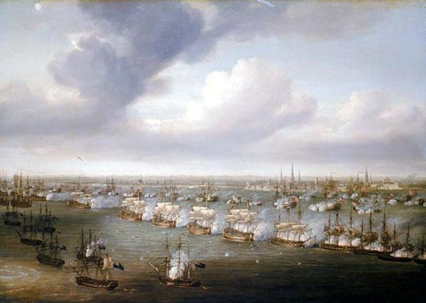 Slaget på Reden (maleri af N. Pecock)
