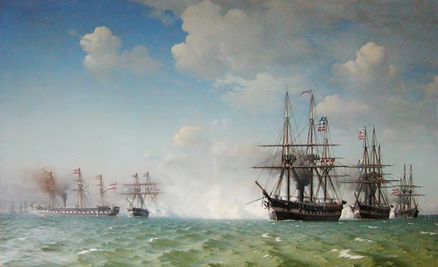 Slaget ved Helgoland 9. maj 1864. Krigen i 1864