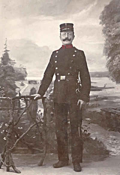 Fæstningsartillerist Walter Andersen (foto fra Angie Lake)