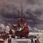 Bredal og hans skibe i Nyborg Fjord (Maleri af Carl Neuman)