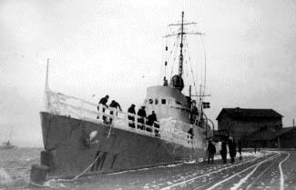Sikringsstyrken i Århus havn, september 1939. (Orlogsmuseet)