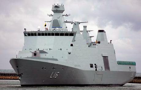 Orlogsskibet Absalon. (fra Søværnet)