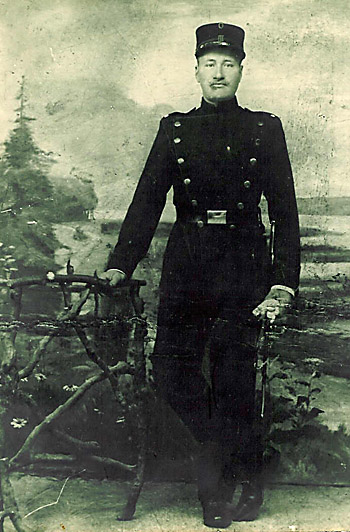 Fæstningsartillerist Anders Sørensen Hansen (foto fra Lykke Jørgensen)