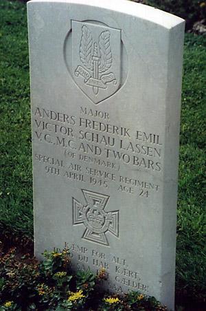 Anders Lassens gravsted ved Argenta  (foto: H.O. Lindskov)