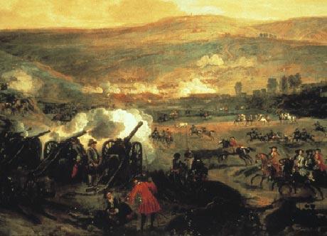Slaget ved Boyne hvor de danske soldater deltog (fra Wikipedia)