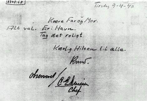 K.C. Olsens brev til hans forældre