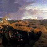 Bombardementet af Dybbøl skanser i 1864 (foto: Wikipedia)