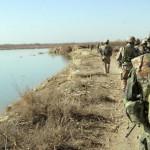 ISAF patrule ved Helman floden i Afghanistan (foto: HOK)