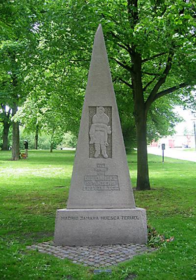 Mindesmærke ved Frihedsmuseet i København for de danske frivillige i den Spanske Borgerkrig (foto: Gert Laursen)