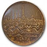Medalje præget til erindring om erobringen af Stade 17. september 1712.