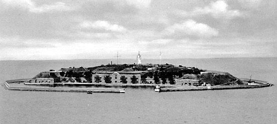 Middelgrundsfortet. Et af søforterne der bevogtede Øresund (foto: Orlogsmuseet)