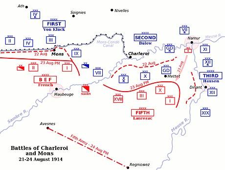 Kampen ved Mons 1914 (fra Wikipedia)