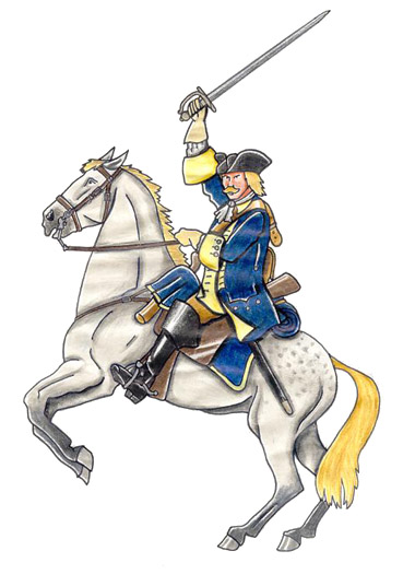 Slesvig-Holstein-Gottorp kavalerist - Von der Osten kavaleriregiment