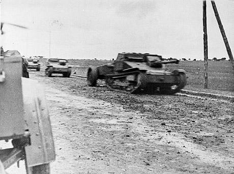 Italienske tanketter i slaget ved Guadalajara (foto: fra Wikipedia)