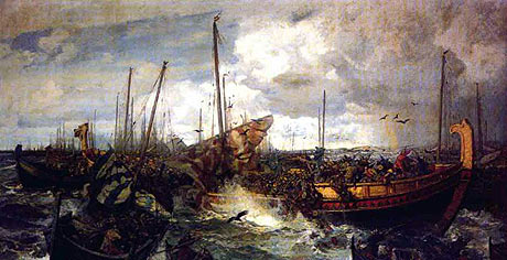 Slaget ved Svold stod mellem den norske konge Olav Tryggveson på den ene side, og Svend Tveskæg, konge af Danmark, og Olaf Eriksson, konge af Sverige, i år 999/1000. Svend Tveskæg vandt slaget med hjælp fra en styrke jomsvikinger slaget og overtog den norske trone.