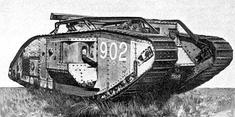Britisk Mark V tank (fra Wikipedia)