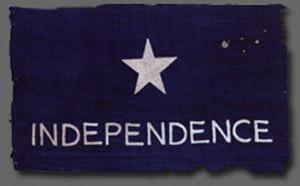 En kopi af det flag som Zanco skabte