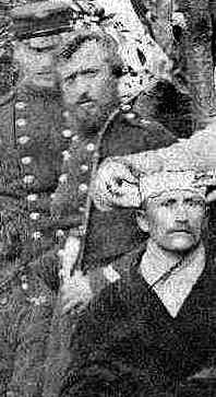 Billedet viser Niels Pedersen under sit ophold på lazarettet.