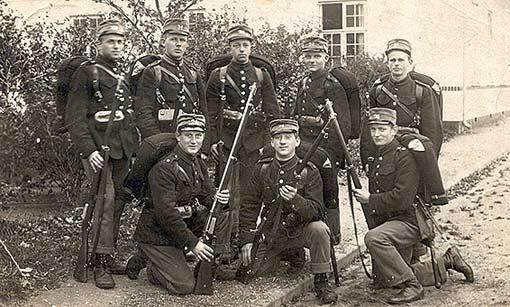 Aksel Pedersen - 24. Bataljon ca. 1920