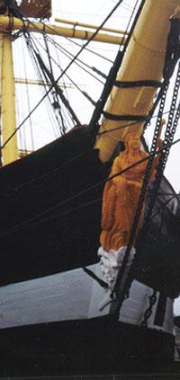 Galionsfigur fra fregatten JYLLAND