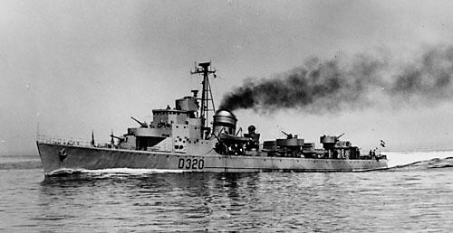 HUITFELDT som kystjager (foto: Marinens Bibliotek)