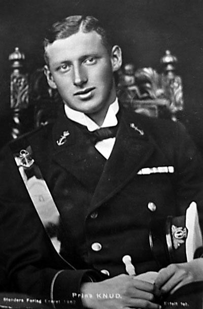 Prins Knud som Kadet i Søværnet, ca. 1921/22 (foto fra fra Birger Nilsson)
