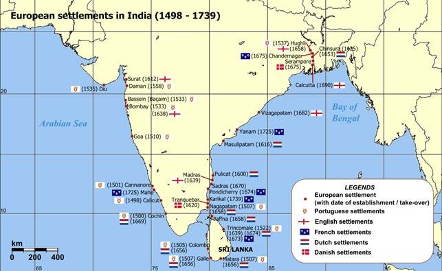 """Situationen i Indien, hvor særligt Indiens sydøstkyst – Coromandelkysten - og Bengalen ved Calcutta var eftertragtede områder at drive handel fra. Navnet stammer fra det tamilske """"Cholamandanam"""", der betyder Chola-riget efter et hersker-dynasty. På portugisisk forvansket til Coromandel. Danskerne var en lille konkurrent til englændere, franskmænd, hollændere og portugisere, men ikke desto mindre interessante for de lokale herskere, der kunne bruge danskerne i indsatsen for at spille de europæiske magter ud mod hinanden."""