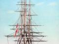 Fregat malet af Holm. Hvilken fregat det er, er ukendt. Hvis nogen har et forslag, vil vi gerne høre fra dem.