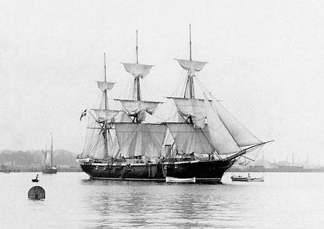 Skruekorvetten DAGMAR (foto: Orlogsmuseets samling)