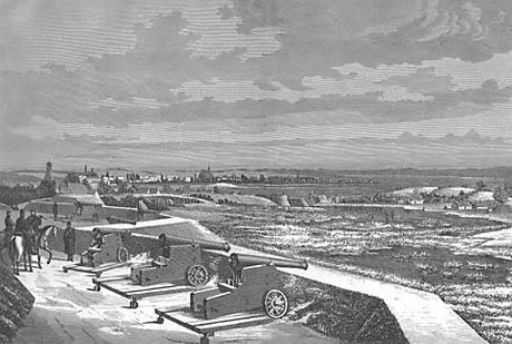 Den danske stilling ved Dannevirke i Krigen i 1864