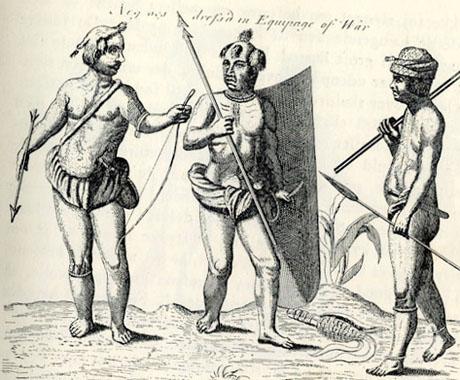 Fetu krigere (fra Churchills collection of Voyages and Travels V 1745)