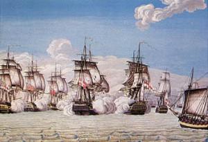 Kampen imellem fregatten Freja og engelske orlogsskibe