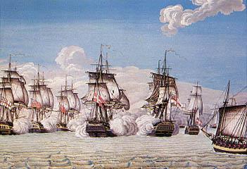 Kampen imellem FREJA og en britisk flådestyrke