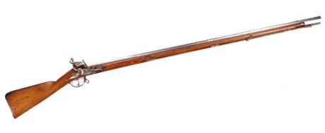 Et af de geværtyper som muligvis blev bragt til området (Tak til Tøjhus-museet for tilladelse til brug af billedet)