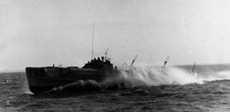 Motortorpedobåd HAVØRNEN løb af stablen som S216 i Tyskland i 1944. Båden var 35 m. lang, 5,1 m. bred og havde en dybgang på 1,67 m. Tre Mercedes-Benz dieselmotorer på hver 2.500 HK gav en topfart på mellem 42 og 45 knob. Bevæbningen bestod af to 53cm torpedorør med i alt fire torpedoer samt tre 20mm maskinkanoner. Besætningen var på 25 mand. HAVØRNEN hejste dansk kommando første gang den 19. november 1948 under navnet T53 og blev først 1. april 1951 navngivet P553 HAVØRNEN. Ved strandingen anslog pressen bådens værdi til ca. 6 mio. kr. (Orlogsmuseets arkiv)